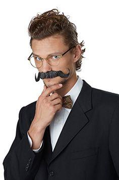 Fu Manchu Moustache Hippie Fancy Dress Halloween Costume Accessory 3 COLORS