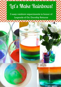 3 Rainbow Science Experiments for the Legends of Oz: Dorothy Returns Movie - MomAdvice #LegendsOfOz