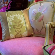Love this from CustomMade   jane hall Toronto    tricia guild fabric