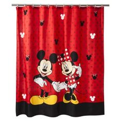 Disney® Mickey & Minnie Shower Curtain  Starting downstairs bathroom... :) first item ordered!