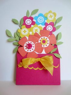 Paper Seedlings #cardmaking #pullout #flowers #papercrafting