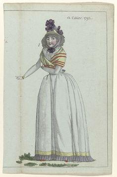 Journal de la Mode et du Goût, 1 juillet 1792, 13e cahier, pl. 2, M. Le Brun, 1792