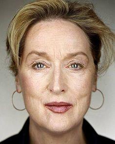 Meryl Streep by Martin Schoeller.