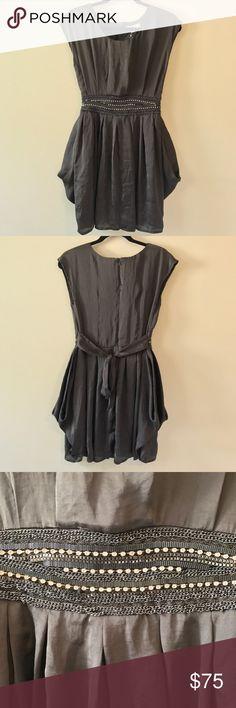 NWT Ya Los Angeles Grey Dress with Jeweled Belt Ya Los Angeles grey dress with jeweled belt detail. New with tags. Ya Los Angeles Dresses