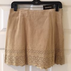 "NWT Express 100% leather skirt Brand new   Measures 14.5"" Express Skirts Mini"
