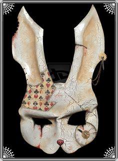 White Rabbit Mask      http://spiked-fox.deviantart.com/art/White-Rabbit-mask-283820773