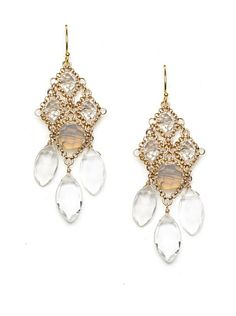 $89 Diane Yang Chandelier Earrings, Clear at MYHABIT - http://myhabit.com/ref=qd_mr_per_l?refcust=UOTUZUTFMS2TIMSVJQ3URT3IZE