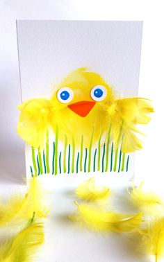 Tipukortti. lasten | askartelu | pääsiäinen | käsityöt | koti | paperi | postikortti | DIY ideas | kid crafts | Easter | home | paper crafts | Pikku Kakkonen