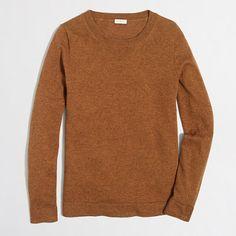 J Crew Factory: Cotton-wool Teddie sweater. Camel, Navy, Grey, or Black. Size M