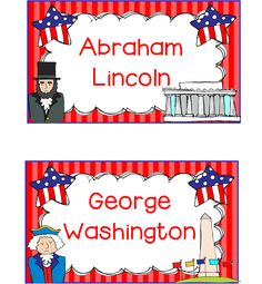 My Silly Firsties: Presidents' Day Freebies