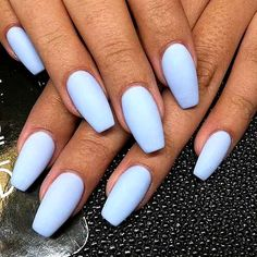 Nails 2018 Best Acrylic Nails for 2018 – 54 Trending Acrylic Nail Designs This post conta. Best Acrylic Nails for 2018 – 54 Trending Acrylic Nail Designs This post conta. Acrylic Nails Pastel, Acrylic Nail Designs, Pastel Blue Nails, Acrylic Art, Light Blue Nails, Acrylic Colors, Blue And White Nails, Blue Matte Nails, Dark Nails
