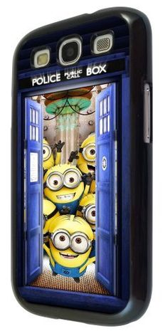 Despicable Me Cartoon Minions Tardis Doctor Who Police Call Box Samsung Galaxy S3 i9300 CASE BACK Cover