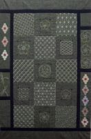 BeBe Bold - Contemporary Japanese Textiles Online Australia :: BeBe Bold Sashiko Panel Off White