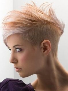 Short Shaved Hairstyles For Women | ... women blond highlights white short very…