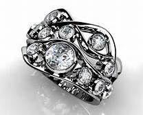 ladies rub over ring designs - Google Search