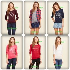 Camiseta Hollister, R$ 43,00 Capri Pants, Graphic Sweatshirt, Sweatshirts, Sweaters, Fashion, Blouses, Moda, Capri Trousers, Fashion Styles