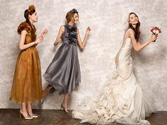 bridesmaids: Kalmanovich, bride: Vera Wang