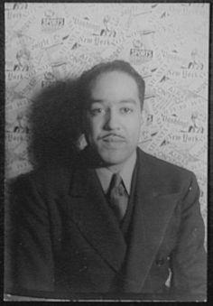 Van Vechten's Portrait of Langston Hughes. 1936