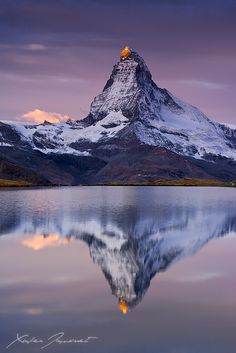 The Matterhorn in Switzerland http://www.interestingglobe.com/