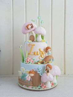 Looking for baby shower cakes but unsure about where to start? This post has tons of beautiful cake examples plus helpful tips on how to choose your own. Baby Cakes, Baby Shower Cakes, Girly Cakes, Cute Cakes, Yummy Cakes, Fondant Cake Designs, Fondant Cakes, Cupcake Cakes, Fairy Garden Cake