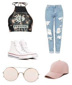 """""""Untitled #3"""" by moore-doug on Polyvore featuring Boohoo, Topshop, Converse, Sole Society and Sunday Somewhere"""