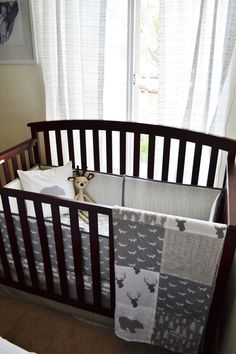 Woodland Crib Bedding Set Customizable by SleepingLakeDesigns