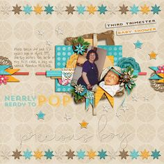 Availalbe now at both Gingerscraps and Gotta Pixel; kit: 100% Baby Bump by Seatrout Scraps;  http://store.gingerscraps.net/100-Baby-Bump-5-Grab-Bag.html;  template: August 2013 Facebook freebie by Seatrout Scraps