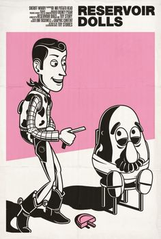 Jim Tuckwell re-imagined movie posters through the eyes of Toy Story characters.