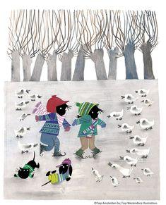 Pin by claudine patricia on children's book artwork иллюстрации, рисун Winter Illustration, Book Artwork, Vintage Art, Illustration, Drawings, Children Illustration, Painting, Artwork, Vintage Illustration