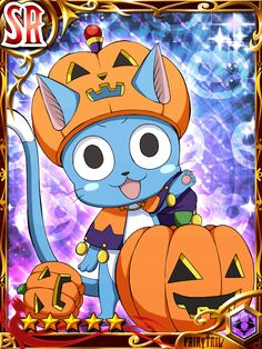 """On Anime and Manga - Other Titles, a GameFAQs message board topic titled """"Fairy Tail 206 *Spoilers*"""". Fairy Tail Cat, Fairy Tail Happy, Fairy Tail Gruvia, Image Fairy Tail, Fairy Tail Ships, Fairy Tail Anime, Erza Scarlet, Halloween Fairy, Halloween Themes"""