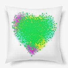 Подушка Яркое красочное сердце, Автор: Светлана Батаенкова, Цена: 1250 р.