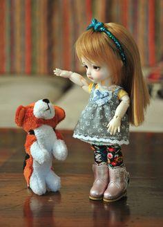 Danni got a puppy ;u;  This is too cute /u\