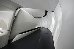 Image 18 of 26 from gallery of Chanel Mobile Art Pavilion / Zaha Hadid Architects. Photograph by Stefan Tuchila Zaha Hadid Architecture, Futuristic Architecture, Amazing Architecture, Architecture Details, Interior Architecture, Parametric Architecture, Chinese Architecture, Zaha Hadid Design, Futuristic Interior