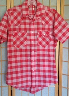 Vintage Levi s Cowboy s Tailor SS Plaid Shirt Pearl Snaps Rockabilly Medium  GUC cc480db2b