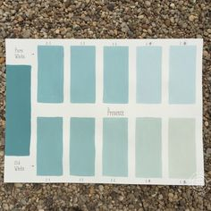 Chalk Paint® Florence Custom Color Chart using Pure White and Old White.