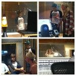 The boys recording recently!