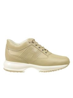 check deze Hogan Sneakers Interactive Leather H Forata (beige)
