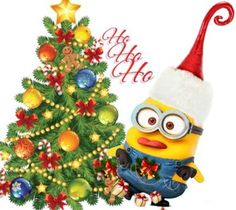 Minion Christmas Tree | Minion Christmas Backgrounds Wallpaper (1920x1080) - White HD Desktop ...