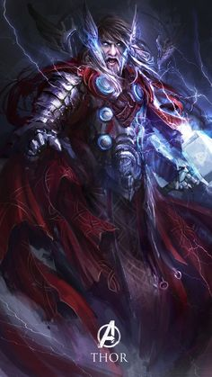 Dark Age Thor Fan Art by Daniel Kamarudin #Marvel #AvengersAoU