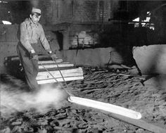 A steelworker at the Carnegie Steel Company's Homestead plant (circa ~1900)
