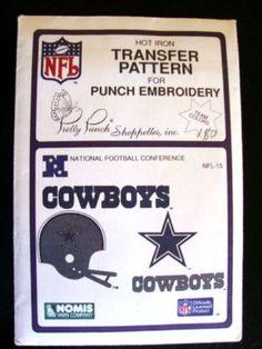 Vtg NFL Dallas Cowboys Transfer Pattern Embroidery $7.99 Last one!