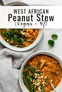 This West African peanut stew is a healthy recipe that is vegan and gluten free!… This West African peanut stew is a healthy recipe that is vegan and gluten free! … – This West African peanut stew is a healthy recipe that is vegan and gluten free! Clean Eating Recipes For Dinner, Clean Eating Snacks, Healthy Eating, Recipes Dinner, Dinner Healthy, Eating Vegan, Holiday Recipes, Vegetarian Stew, Vegetarian Recipes