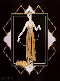 "Mark your calendars art deco fanatics -- next Friday and Saturday (November and a retrospective of limited-edition works by illustrator Erté is opening at Martin Lawrence Gallery in SoHo. Erté -- née Romain De Tirtoff --is known as ""the father of art deco Estilo Art Deco, Arte Art Deco, Art Deco Artists, Art Deco Illustration, Erte Art, Romain De Tirtoff, Art Deco Stil, Inspiration Art, Kunst Poster"