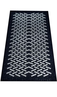 Jason Collingwood Woven Rug -na fine example Loom Weaving, Hand Weaving, Rag Rug Tutorial, Rug Inspiration, Rag Rugs, Weaving Projects, Black And White Design, Weaving Patterns, Crochet Home