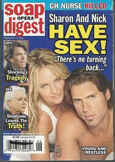 Soap Opera Digest February 2009 Sharon and Nick From Young and Restless on the Cover Chad And Abby, Scott And Allison, Joshua Morrow, Sharon Case, Stiles And Lydia, Tv Soap, Cool Magazine, Young And The Restless, Days Of Our Lives