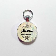 Custom Made DOG ID TAG, Pet Tag,  Your Dog's Name with Phone number, Personalized Dog Tag, Dog Tag,Fancy diva Dog, Girly Dog tag by annmariesisters3 on Etsy