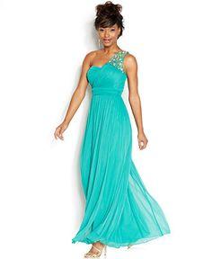 B Darlin Juniors' One-Shoulder Gown - Juniors Shop All Prom Dresses - Macy's