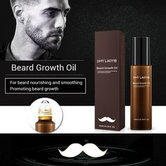 Beard Growth Oil Nourish Hair Follicles Smooth Soothing Beard Drying Beard Nourishing SerumSavy & RooItem Type:Styling LotionNET Name:MAANGEIngredient:Beard care productModel title USD Serum, Beard Oil And Balm, Beard Wax, Beard Tips, Beard Growth Oil, Cedarwood Oil, Beard Love, Beard Grooming, Awesome Beards