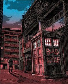art, bad wolf, comics, doctor who, dw, tardis, rose tailer