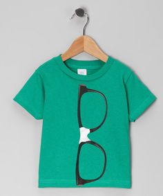 Take a look at this Kelly Green Nerd Glasses Tee - Infant, Toddler & Boys by Geeks Rule: Kids' Apparel on @zulily today!